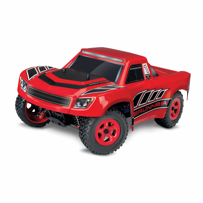 Desert Runner Red 1 18 Scale Ready To Run Electric Truck RC Model Traxxas by Traxxas RC Models