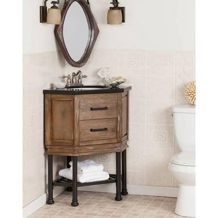 Southern Enterprises Jensen Corner Bath Vanity Single Sink With