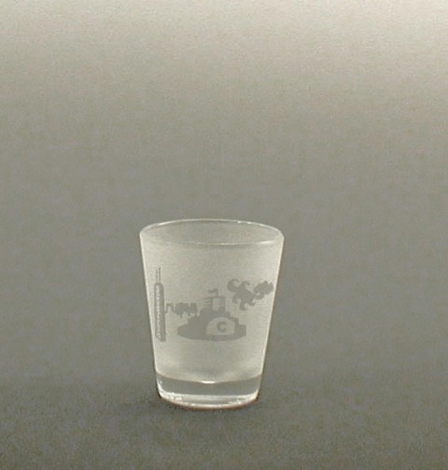 Set of 4 Chicago Skyline Etched Shot Drinking Glasses 13 ounces