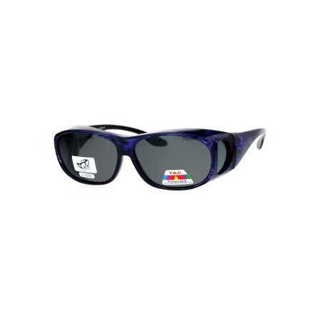 Polarized Womens 63mm Over the Glasses Rectangular Fit Over Sunglasses (Sunglasses That Fit Over Regular Glasses)