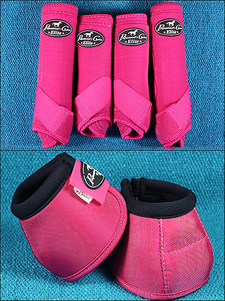 RASPBERRY LRG PROFESSIONAL CHOICE SPORTS MEDICINE HORSE BOOTS BELL VENTECH ELITE by Professional's Choice
