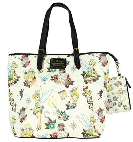 Loungefly Disney Tinkerbell Tote Bag Cream-Multi