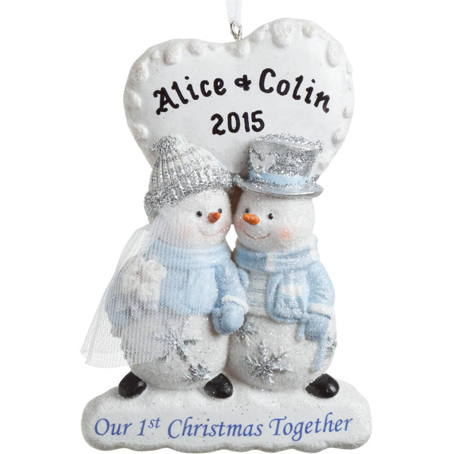Our 1st Christmas Together Personalized Ornament