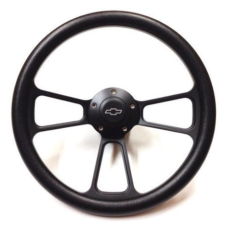 - 1970 & Up Chevrolet Monte Carlo Black on Black Steering Wheel & Adapter Kit