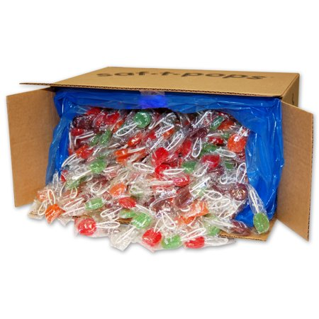 Ring Pops Bulk (Saf-T-Pops, Assorted Flavors, Individually Wrapped, Bulk 25lb Box,)