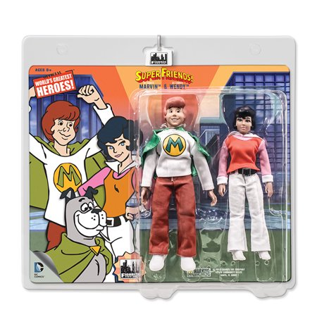 Super Friends Retro 8 Inch Action Figures: Wendy & Marvin Two-Pack (Retro Action Figures)