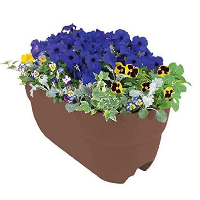 Emsco Group 2445D Brown Multi Rail Planter, 24 in.