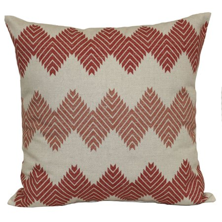 Mainstays Aztec Decorative Throw Pillow, Chevron, Clay Brick, 18