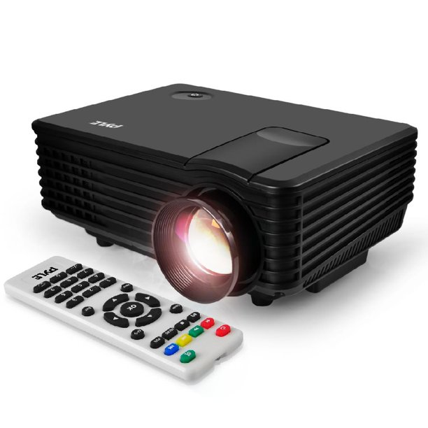 PYLE PRJG88 - Compact Digital Multimedia Projector with 1080p HD Support, Up to 80'' inch Display, USB/HDMI (Mac & PC Compatible)