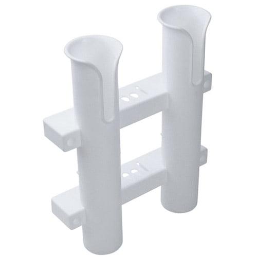 White Boat Plastic Rod Holders 2 Tube Fishing Plastic Specially D5Z8 Holder H2S2