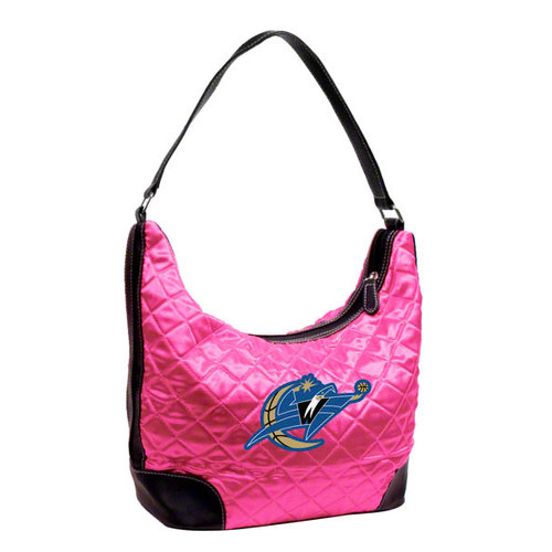 NBA - Washington Wizards Pink Quilted Hobo Purse