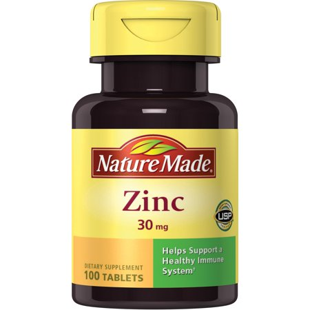 Nature Made Zinc 30 mg Tablets, 100 Ct