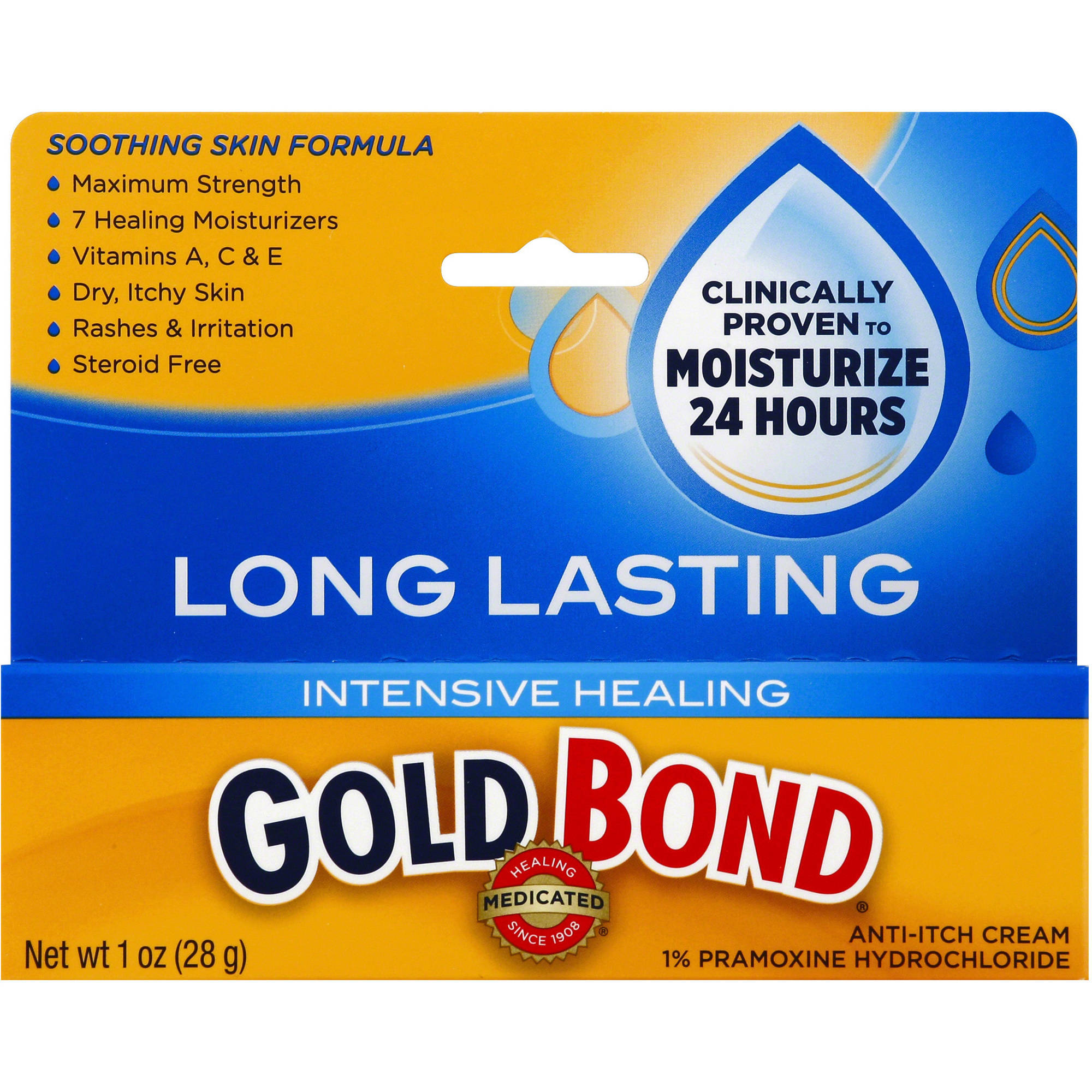 Gold Bond Medicated Intensive Healing Anti-Itch Cream, 1 oz