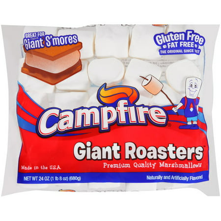 (4 Pack) Campfire Giant Roasters Premium Quality Marshmallows, 24 oz