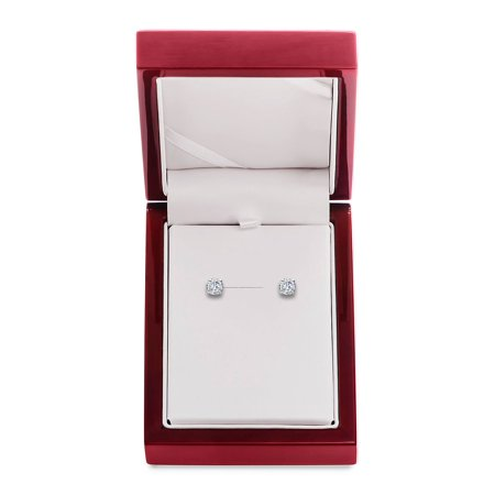 14K White Gold & Diamond Basket Stud Earrings, 1.5 TCW