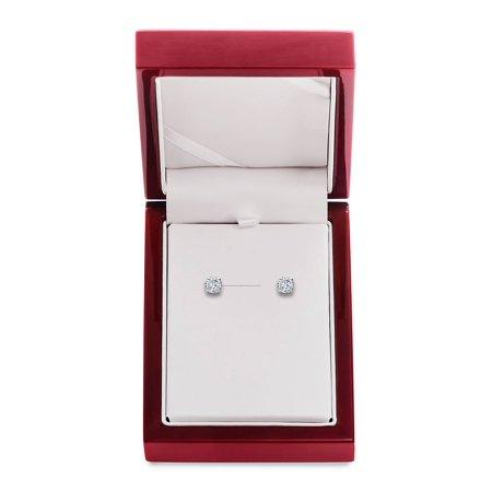 14K White Gold & Diamond Basket Stud Earrings, 1.5 TCW 14k White Gold Coral