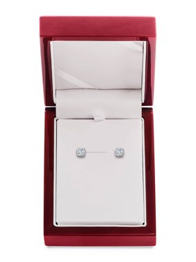 14K White Gold & Diamond Basket Stud Earrings, 1.5 TCW