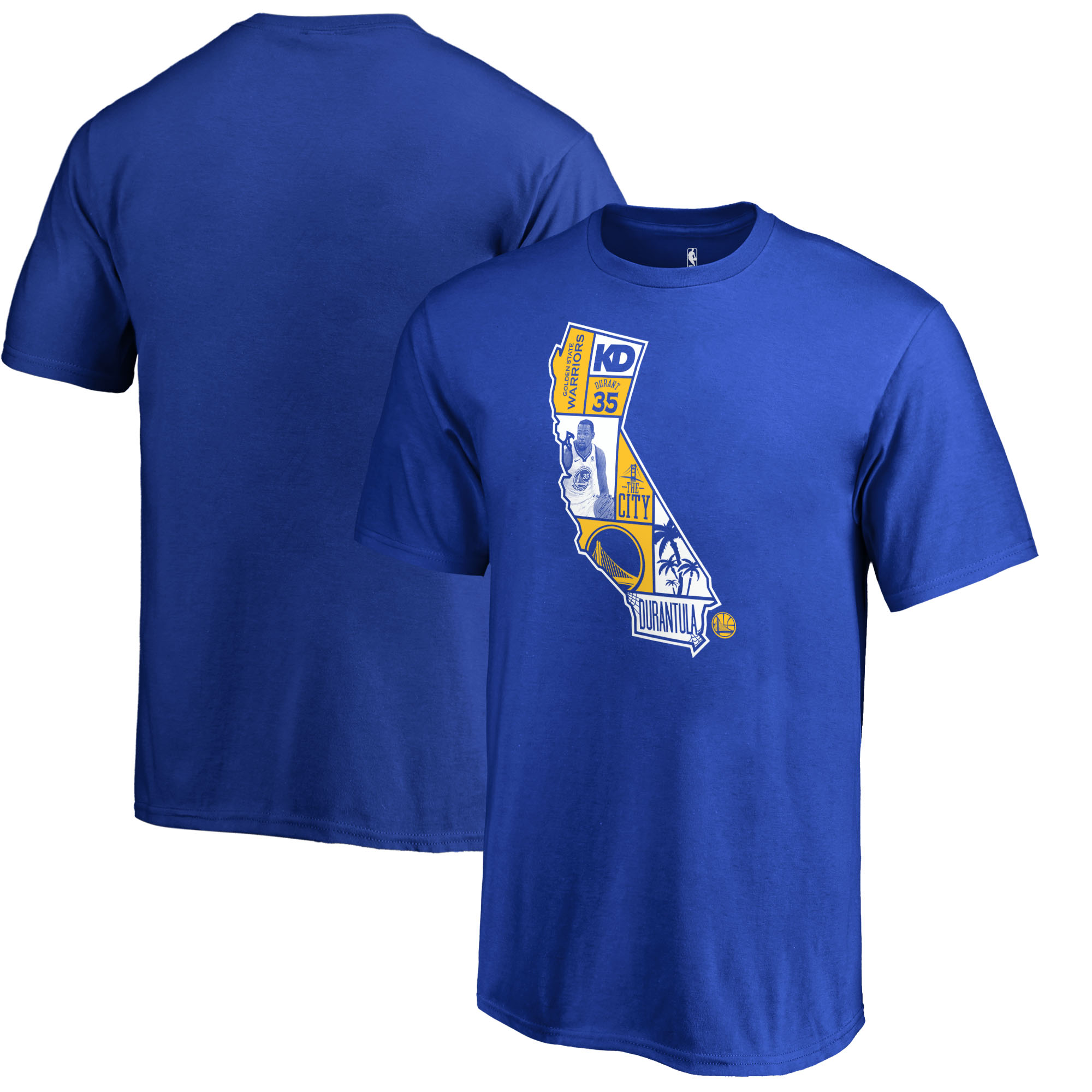 Kevin Durant Golden State Warriors Fanatics Branded Youth Player State T-Shirt - Royal