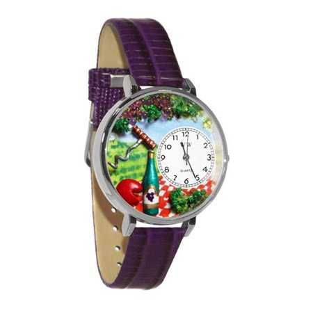 Whimsical Gifts Wine & Cheese Watch in Silver (Large) - image 1 de 1