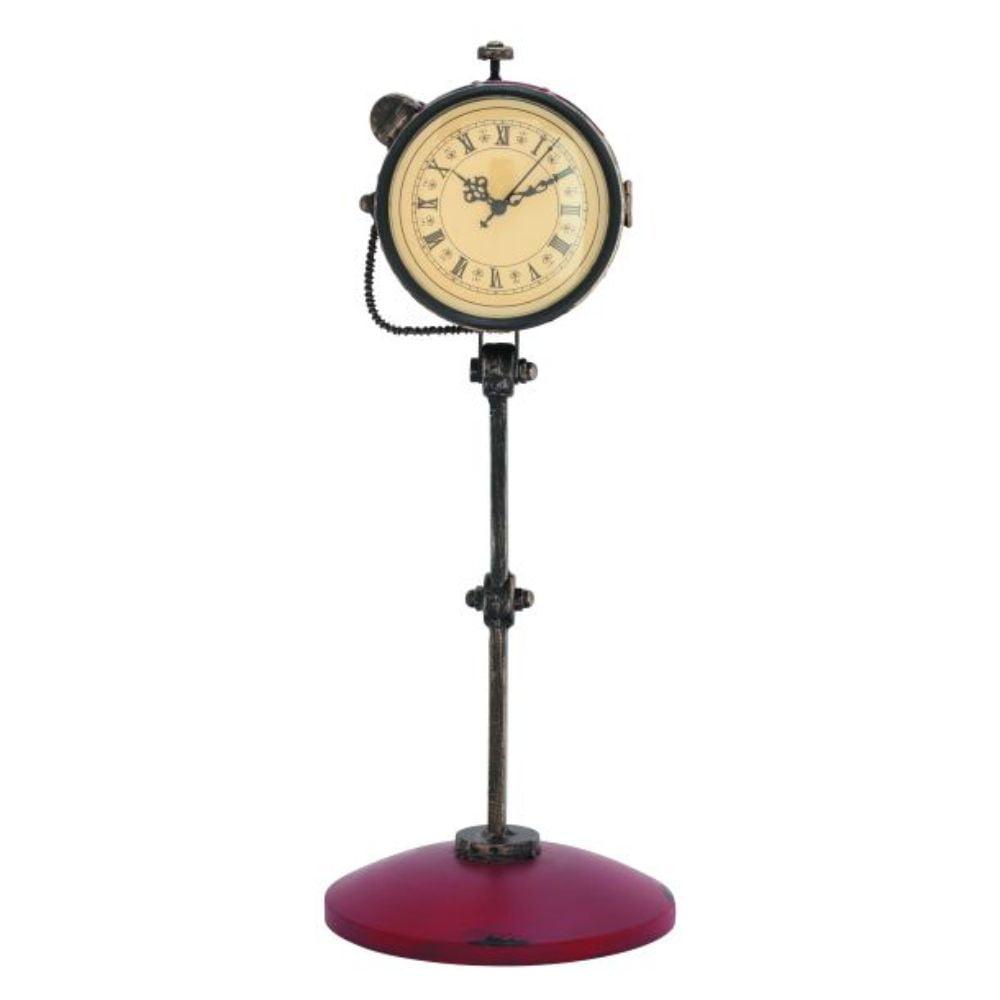 "Metal Table Clock 8""W, 20""H by Benzara"