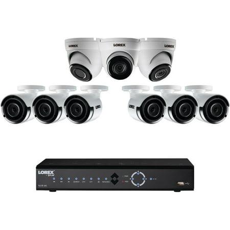 Lorex by FLIR LNK7163C6D34B 16-channel 4k 3tb Nvr With 9 2k Poe Cameras
