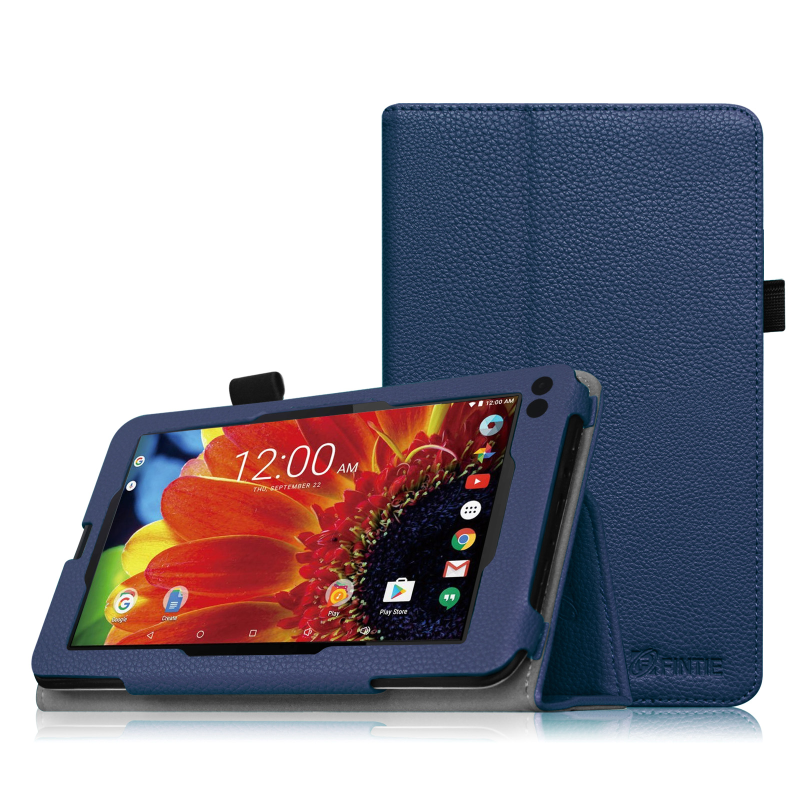 "Fintie Premium PU Leather Folio Case Stand Cover for RCA 7"" Tablet / RCA Voyager II 7"" Tablet WIFI Android, Navy"
