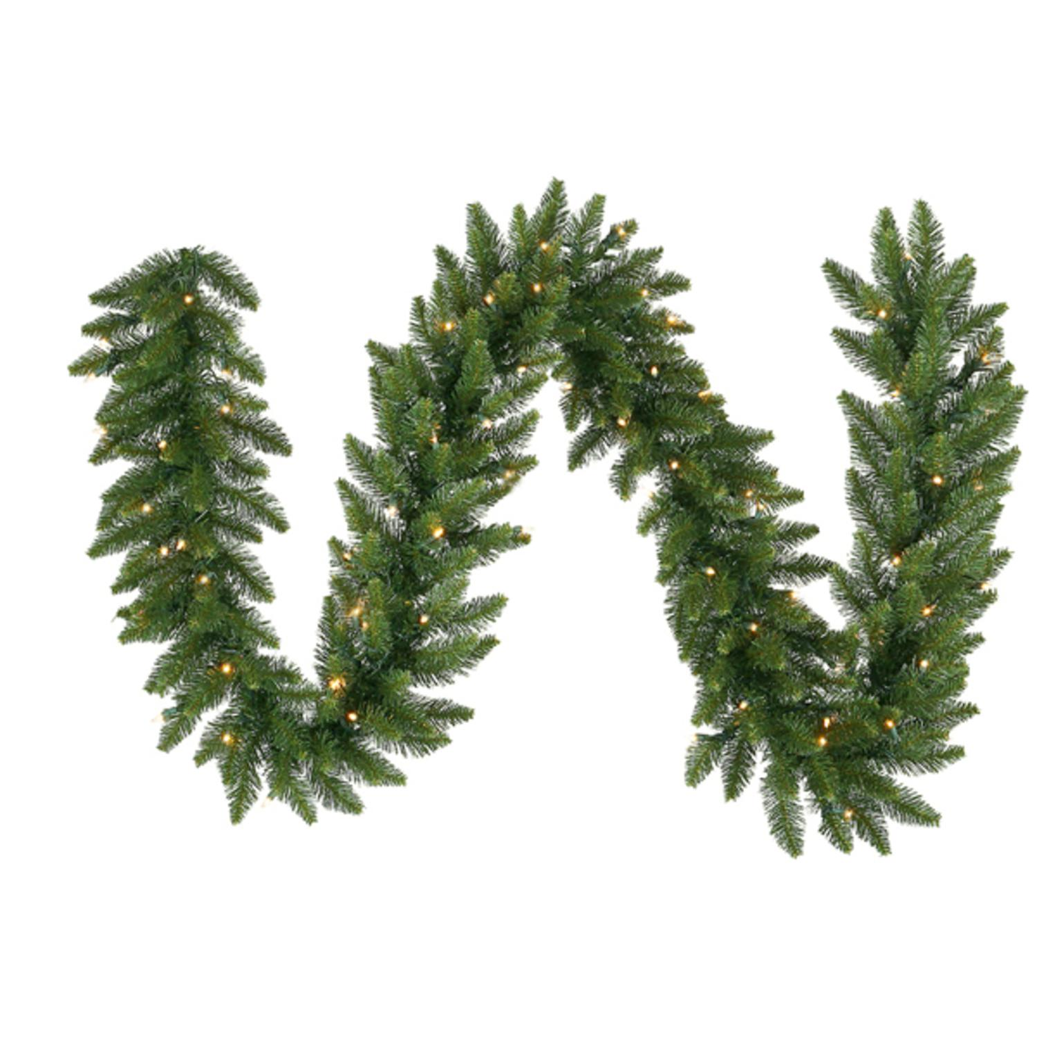 "50' x 14"" Pre-Lit Camdon Fir Commercial Christmas Garland - Clear LED Lights"