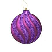 "Northlight 6ct 2-Finish Swirl Shatterproof Christmas Disc Ornament Set 6.25"" - Purple"