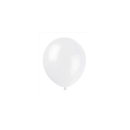 Unique Industries 5106 15 count 12 inch Balloons in Snow White - 144 Packs