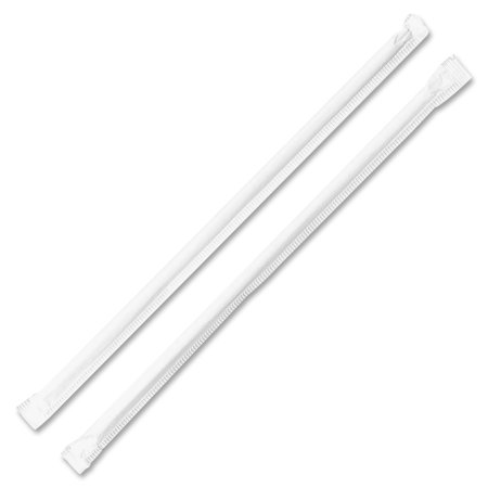 Genuine Joe, GJO58925, Jumbo Translucent Straight Straws, 500 / Box, Clear