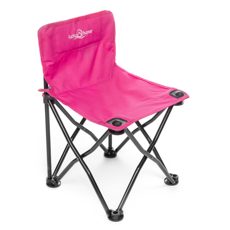 Lucky Bums Kids Quick Folding Camp Chair, Blue