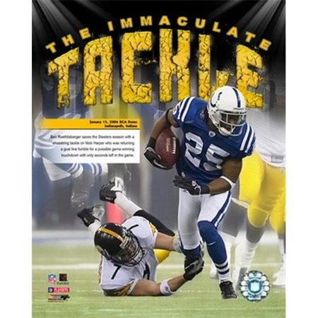 Photofile PFSAAGX07401 Ben Roethlisberger - 06 Imaculate Tackle Photo Sports - 8 x 10 - image 1 de 1