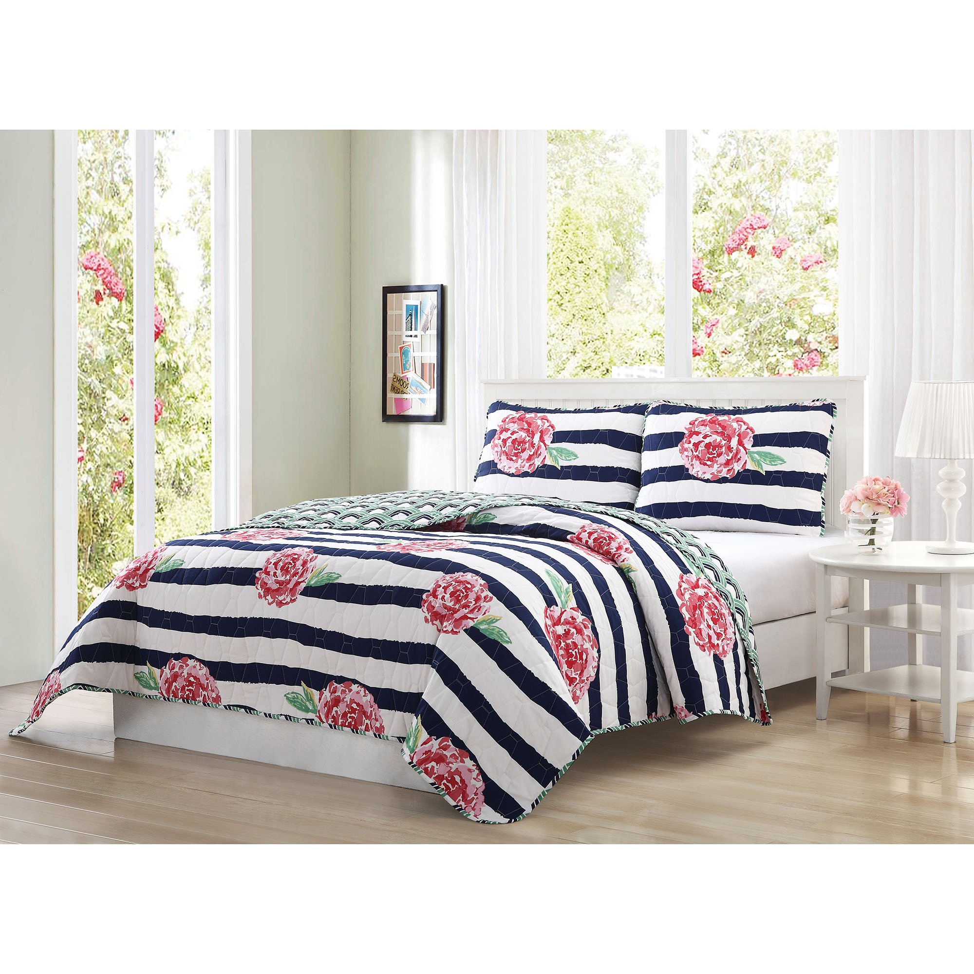Quaint Home Marielle Reversible 3-Piece Quilt Set