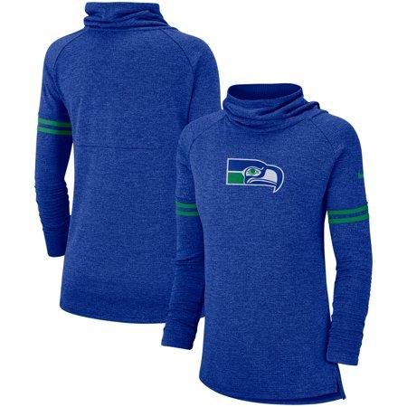 6de92a681 Seattle Seahawks Nike Women's Historic Marks Long Sleeve Tri-Blend Funnel  Sweatshirt - Royal - Walmart.com