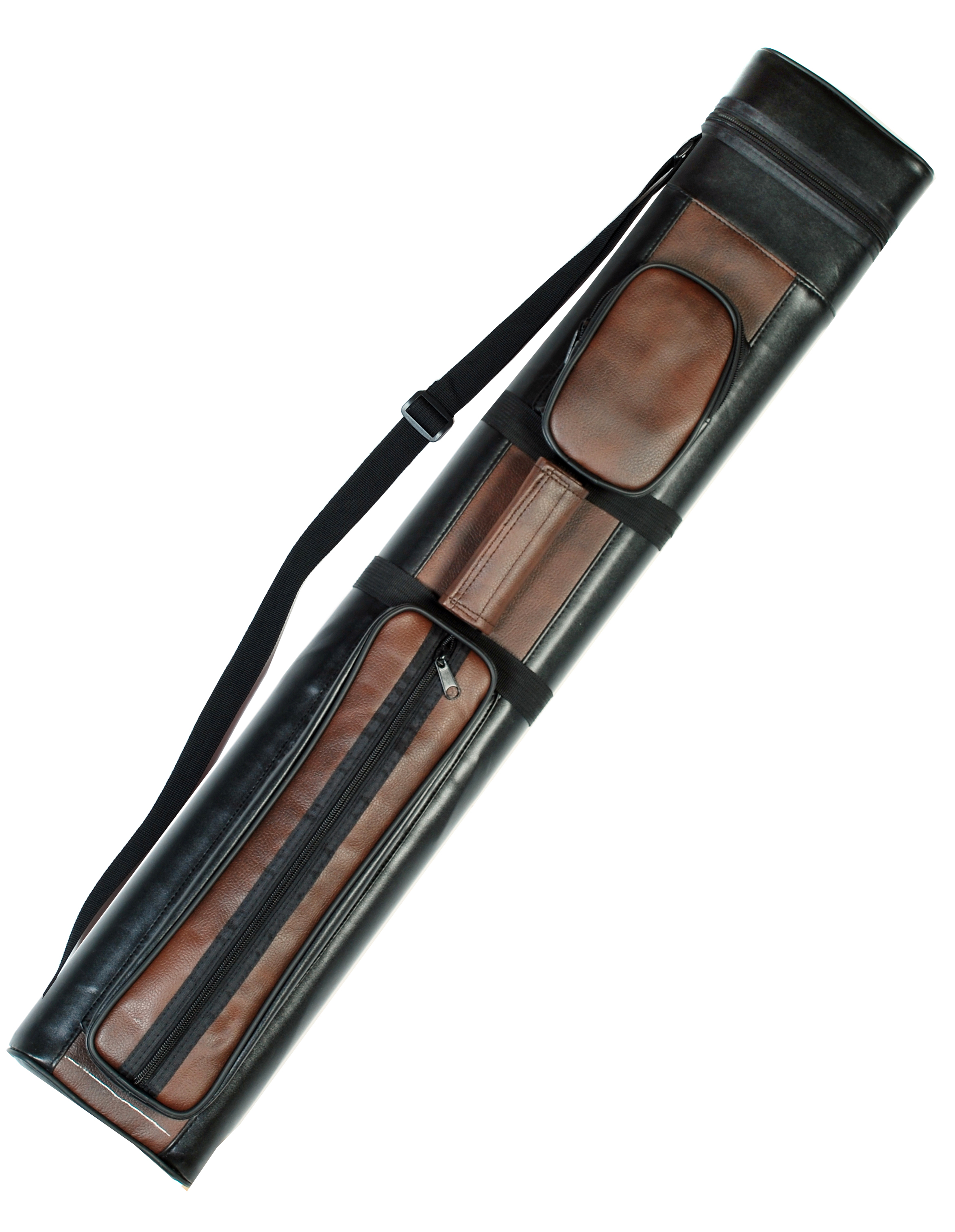 2X2 Hard Billiard Stick Pool Cue Carrying Case 2 x 2 Brown Black by Iszy Billiards