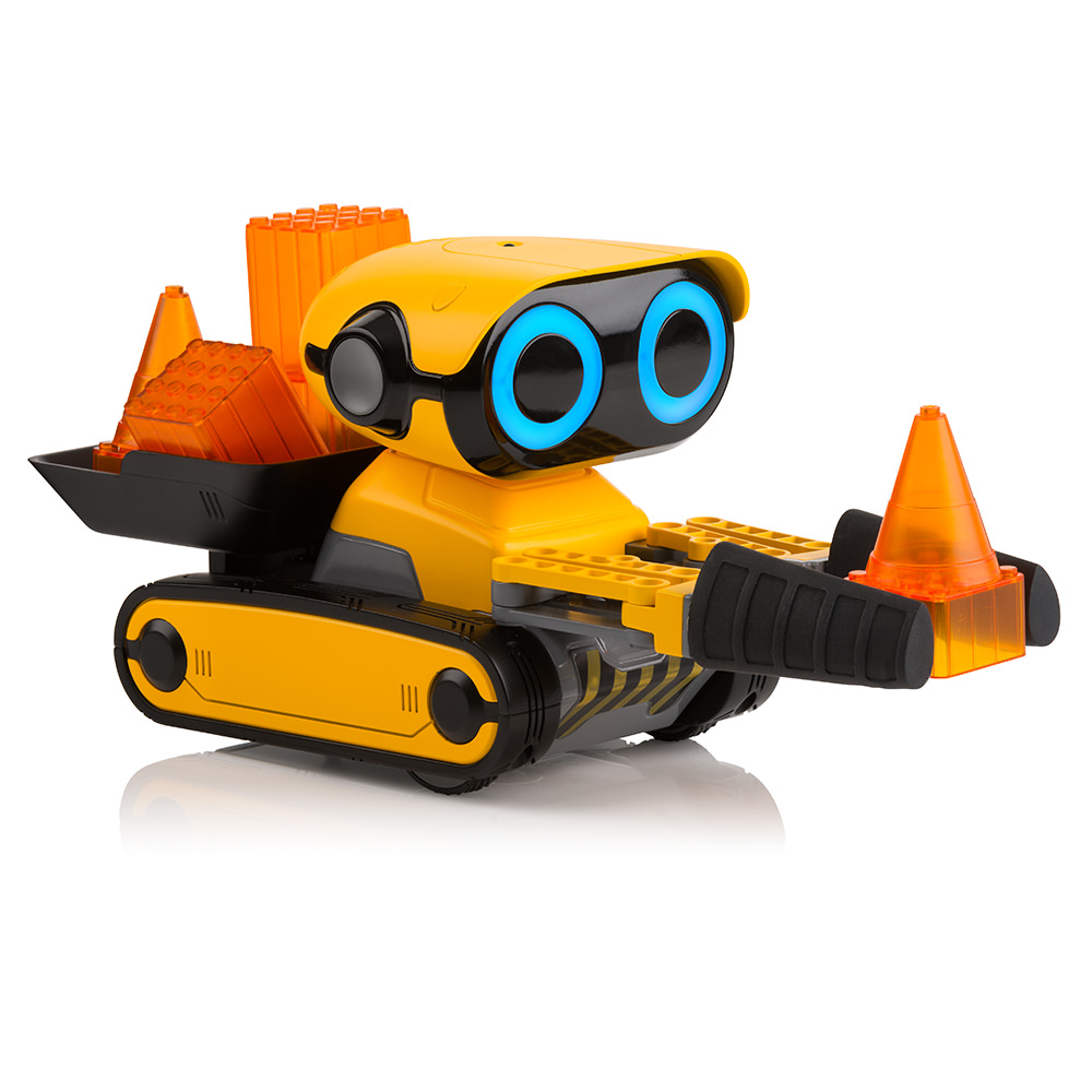 WowWee BotSquad GRiP - Interactive Robot Construction Vehicle Toy with Gripping Tool, Building Blocks, and Remote Control