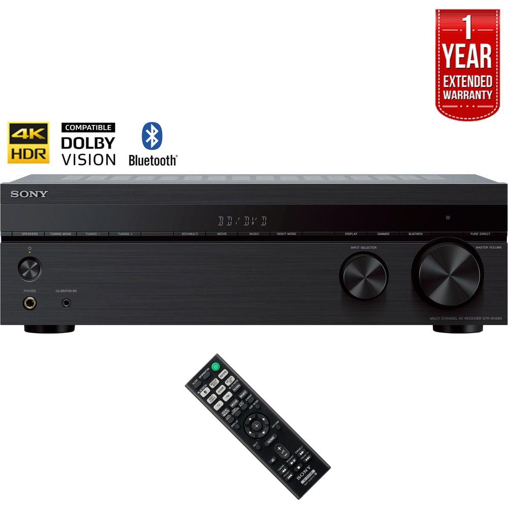 Sony STRDH590 5.2 Multi-Channel 4k HDR AV Receiver with Bluetooth (2018 Model) + 1 Year Extended Warranty