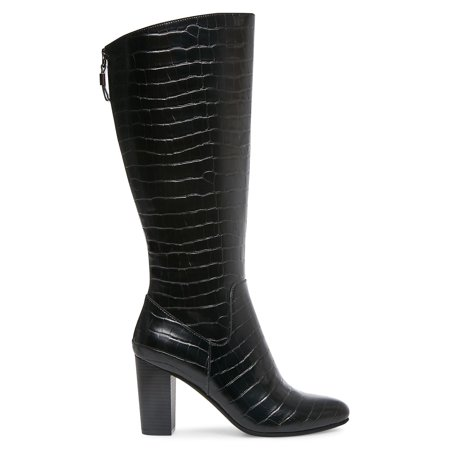 Nastya Textured Tall Boots - Wide Calf