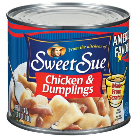 (2 Pack) SWEET SUE Chicken and Dumplings, High Protein Snacks, 24oz