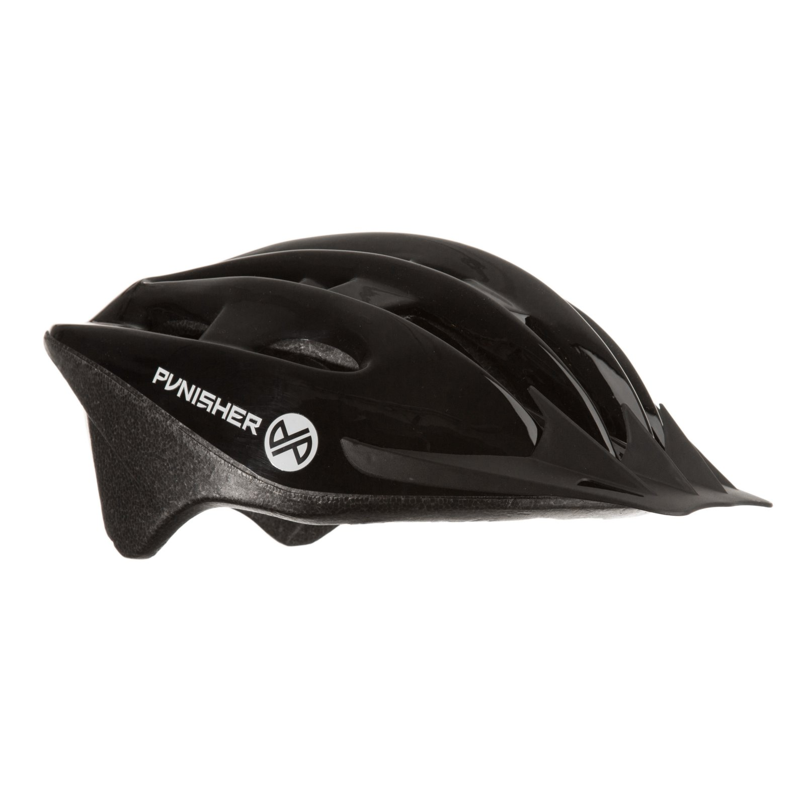 Punisher 18-Vent Adult Cycling Helmet with Imitation In-Mold, Black, Ages 12+ by Punisher Skateboards