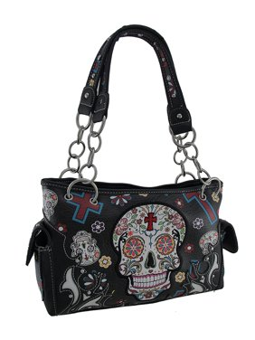 Product Image Dod Sugar Skulls Crosses Colorful Concealed Carry Purse