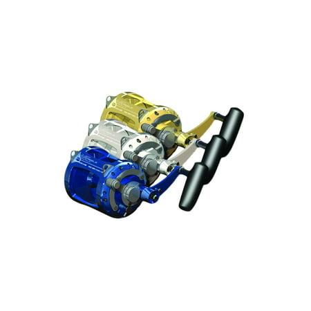 (Avet EXW30/2S Lever Drag Conv. Reel Silver H3.8:1,L2.0:1 630Yds/40Lb, EXW30/2-S)