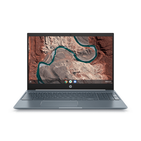 "HP Chromebook 15 , 15.6"" Full HD Touchscreen, Intel Core i3-8130U, Intel® UHD Graphics 620, 4GB SDRAM, 128GB eMMC, Audio by B&O, Ceramic White/Cloud Blue, Backlit Keyboard, 15-de0517wm"