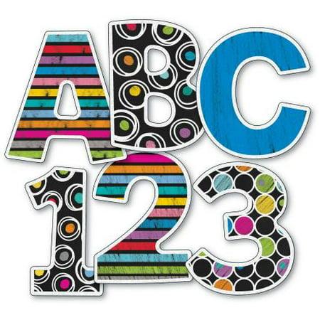 Colorful Chalkboard EZ Letters - Chalkboard Letters