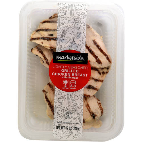 Marketside Lightly Seasoned Grilled Chicken Breast, 12oz