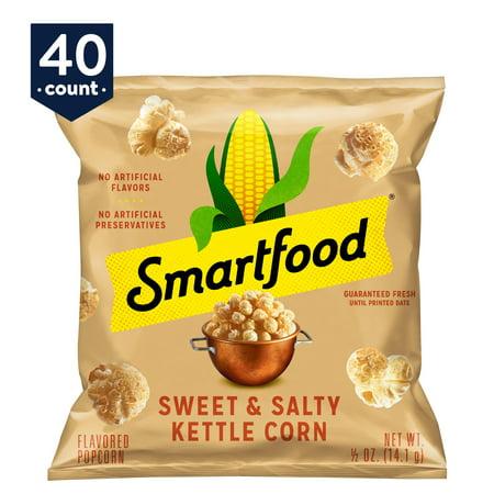 Smartfood Sweet & Salty Kettle Corn Popcorn, 0.5 oz Bags, 40
