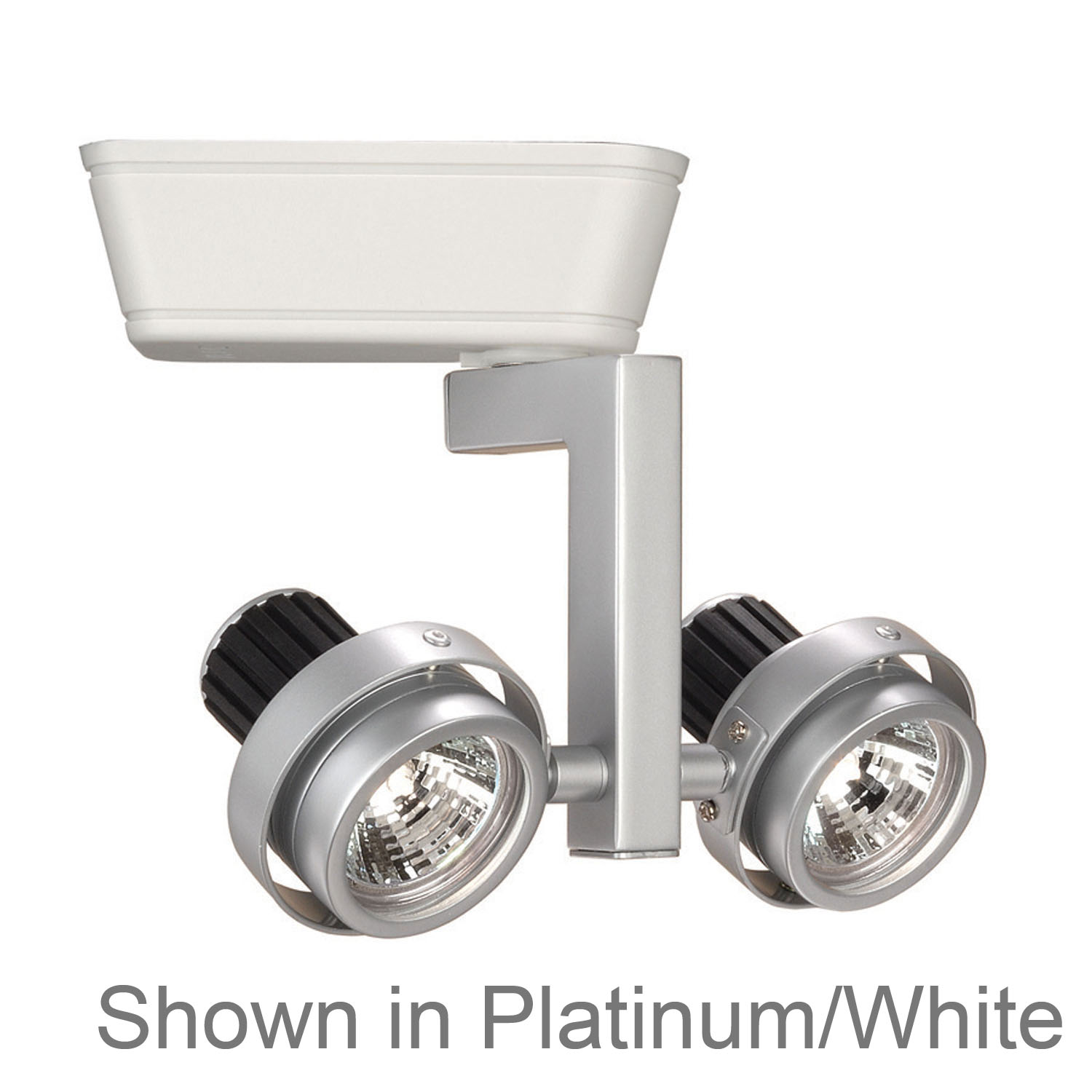WAC Lighting 35W Double MR16 Premium Low Voltage Platinum Black L Series Track Head