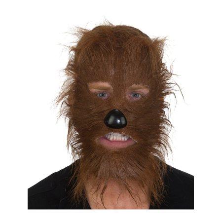 Adult's Furry Brown Werewolf Legendary Animal Mask Costume Accessory