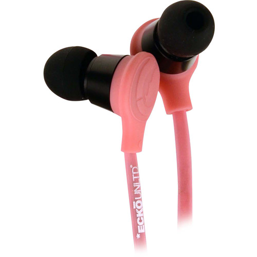 ECKO UNLIMITED EKU-TRK-PK Trek Earbuds with Microphone (Pink)