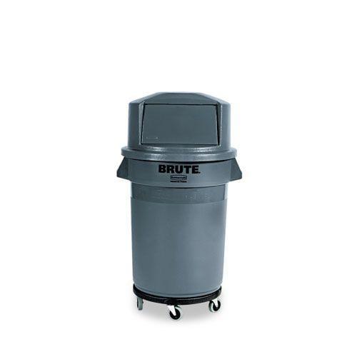 Brute Refuse Container, Round, Plastic, 32 gal, Gray